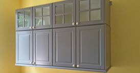 Cabinet painting is just one job that a painting contractor can do for you   866-802-0640
